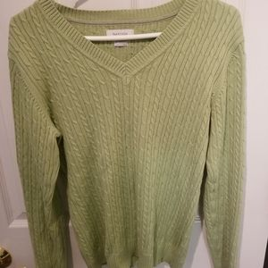 Van Heusen Womans Spring Green Sweater Large